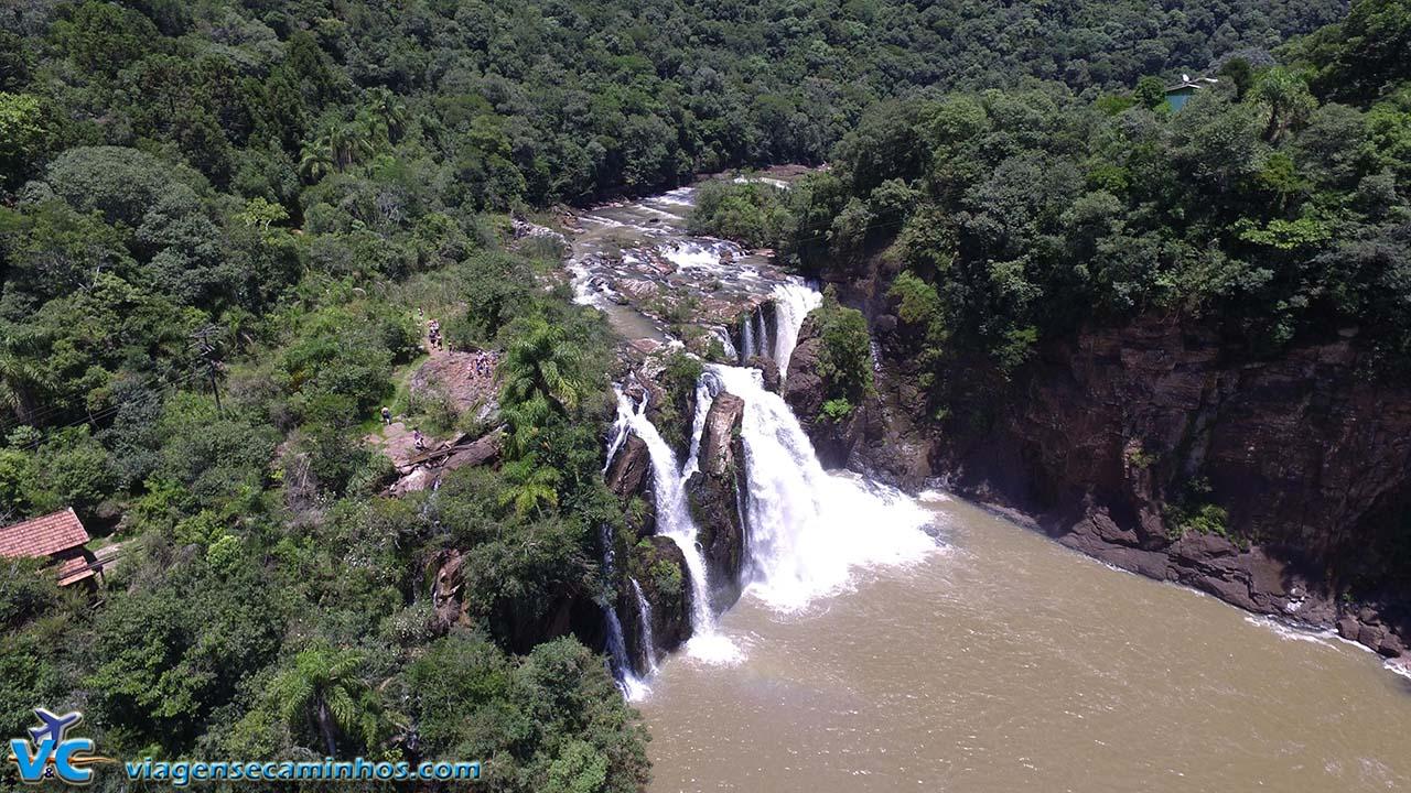 Cascata da Usina - Nova Prata - imagem: Drone Viagens e Caminhos