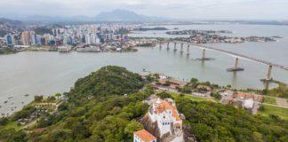 Vista aérea do Convento da Penha