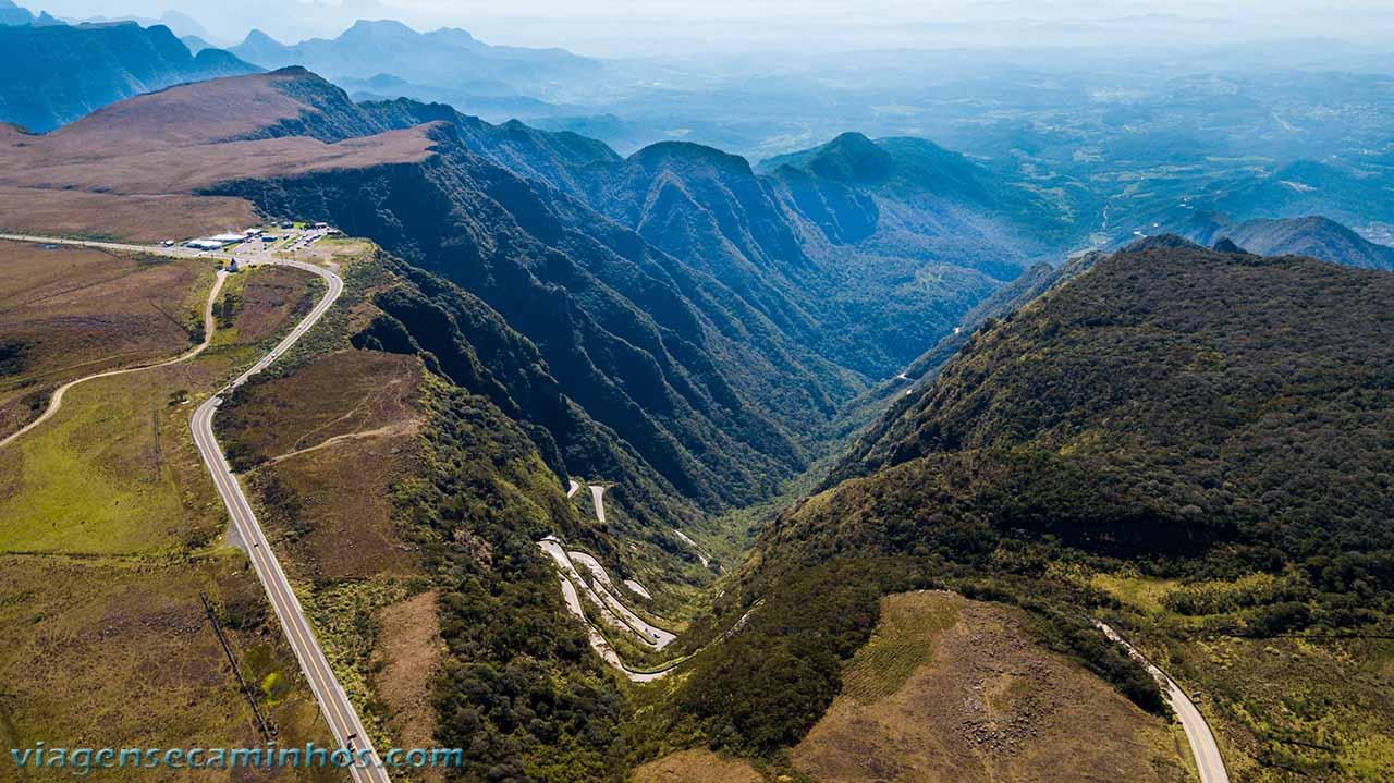 Vista aérea da Serra do Rio do Rastro