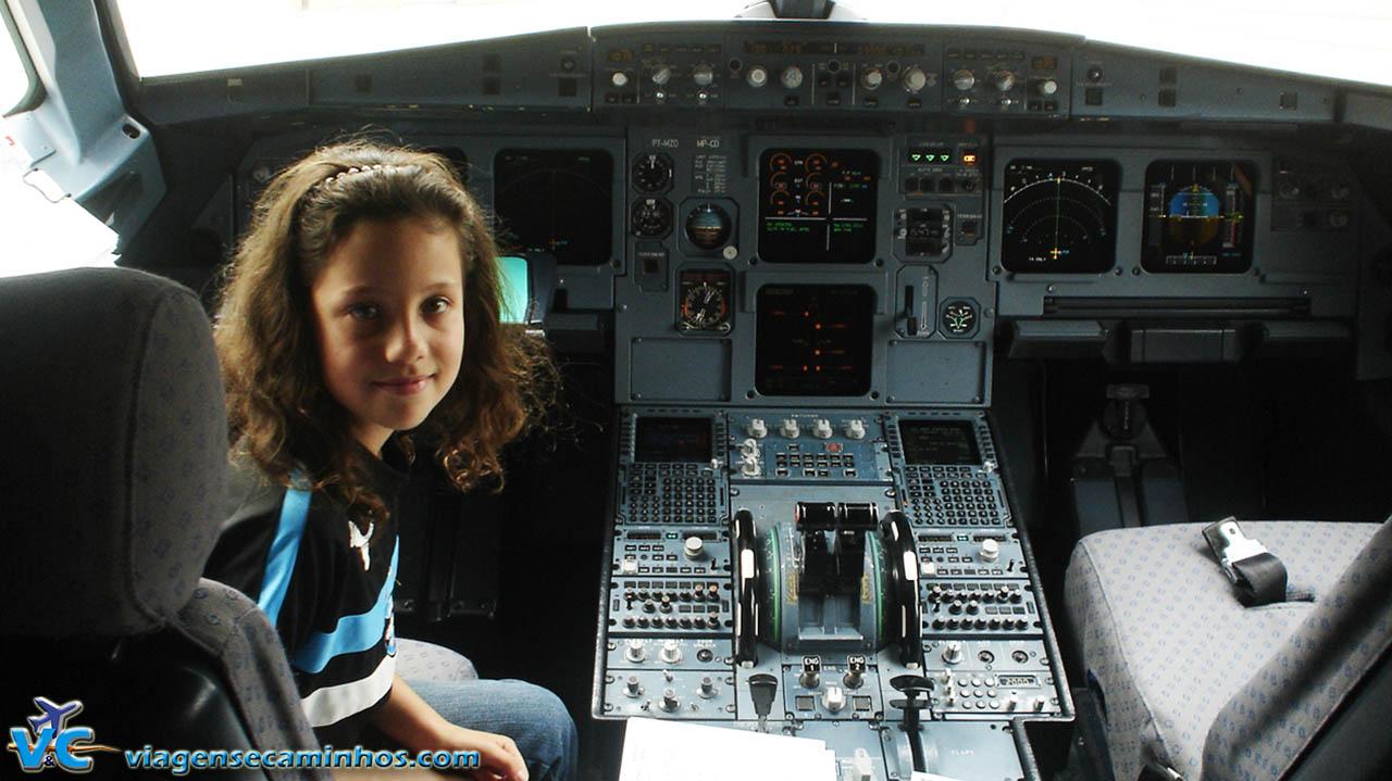 Cabine do avião