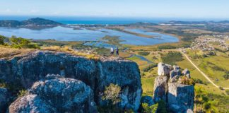 Vista aérea da Pedra Branca - Garopaba