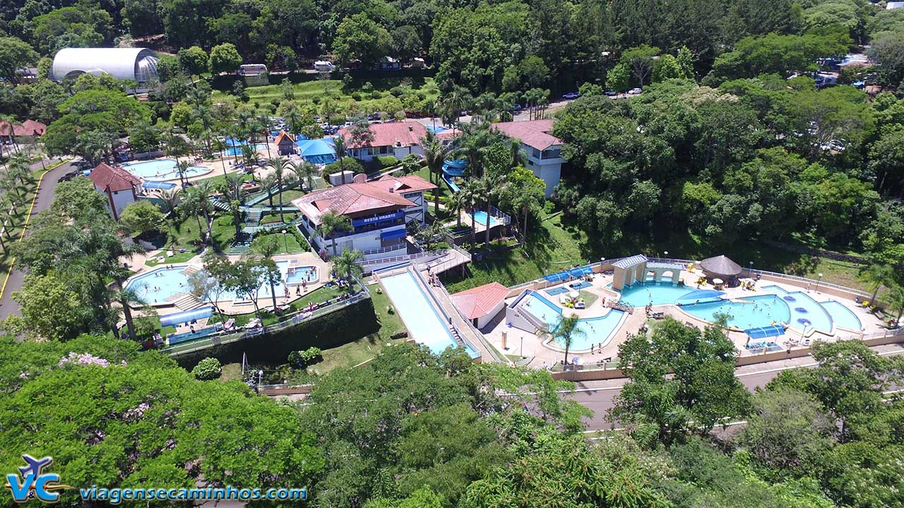 Vista aérea do Parque Termal de Piratuba