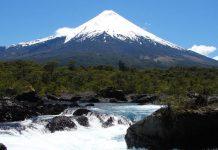 Saltos Petruhué e Vulcão Osorno, no Parque Vicente Perez Rosales