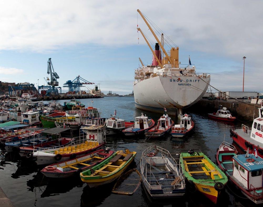 Barcos em Valparaíso
