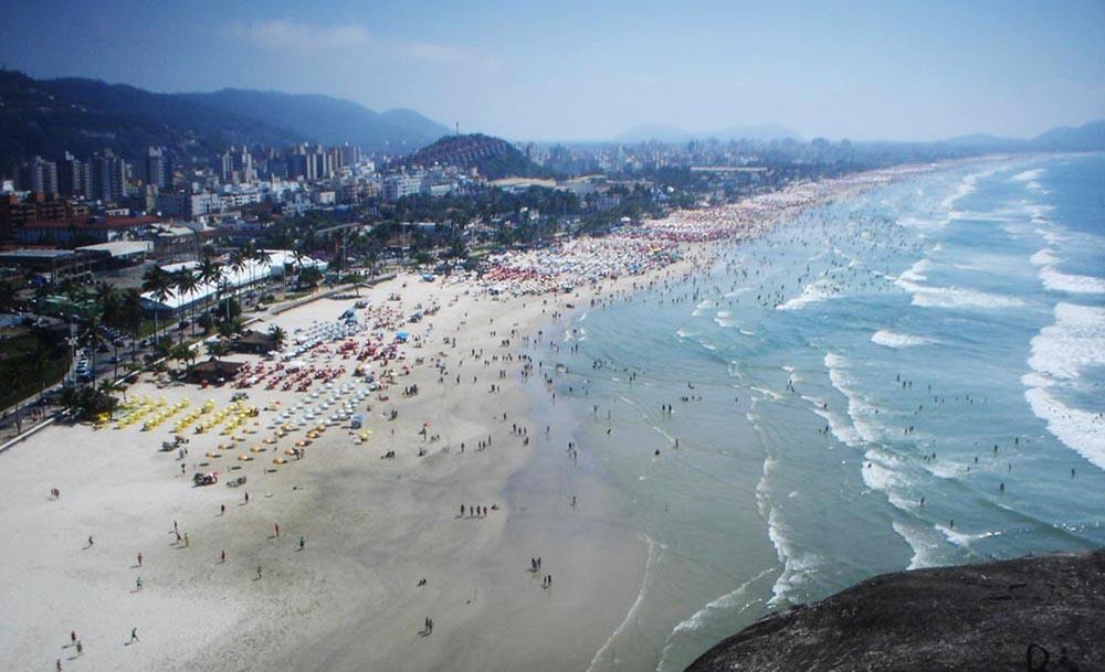 Praia da Enseada - Guarujá - Vista do Morro do Maluf