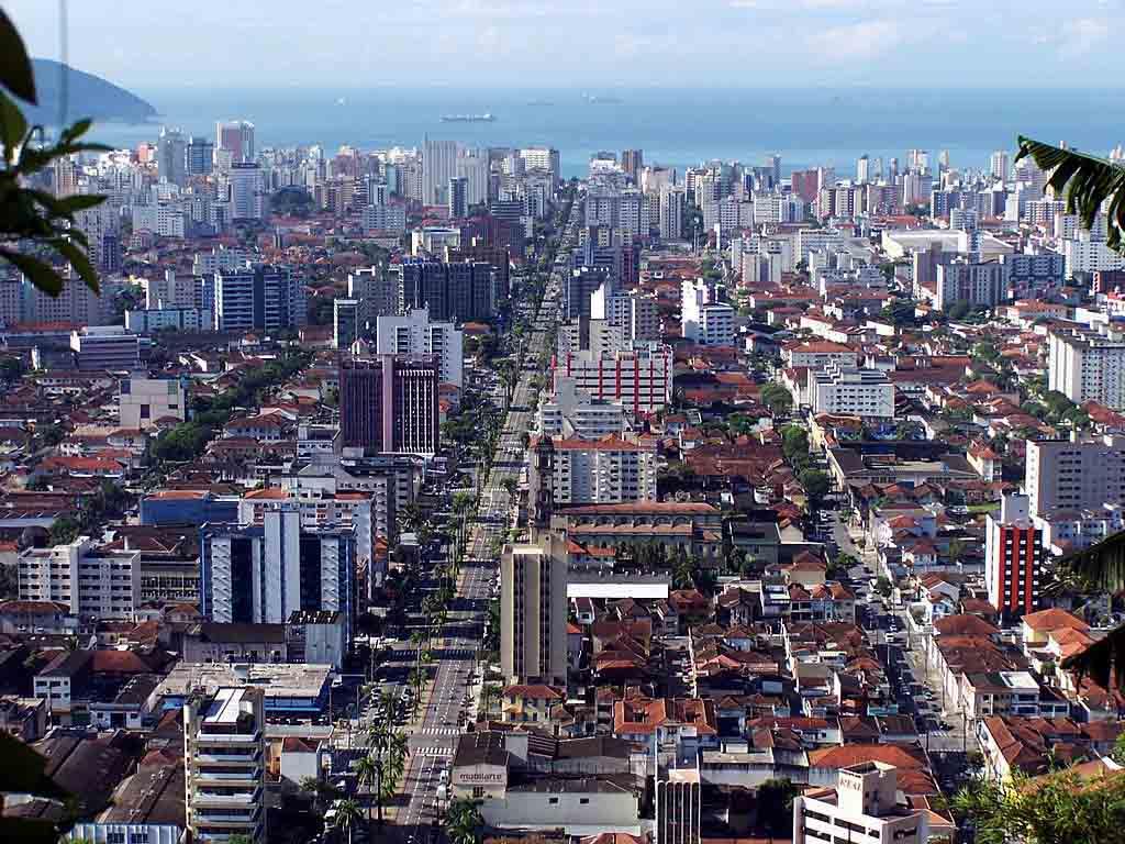 Santos vista do Monte Serrat