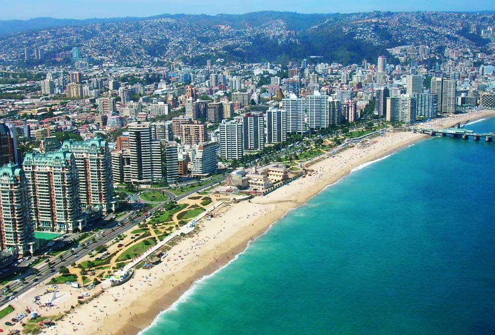 Vista aérea de Viña del Mar