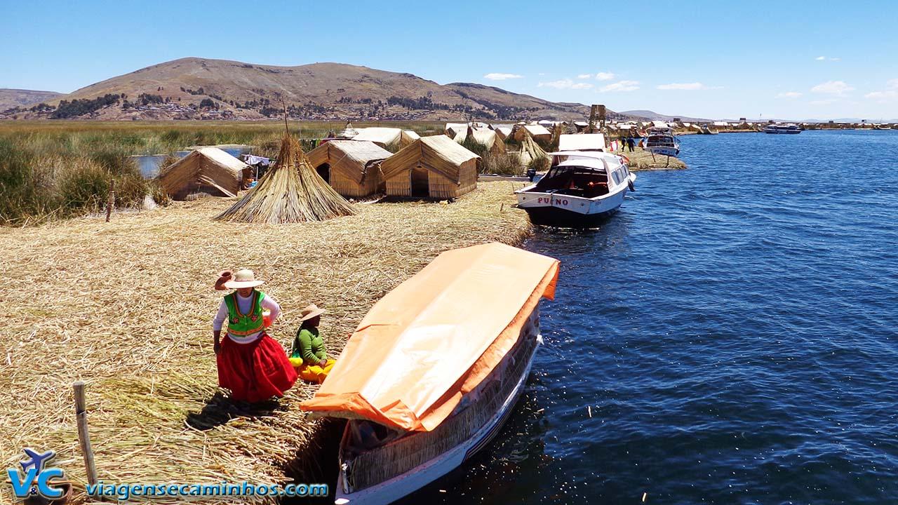IIlhas flutuantes dos Uros - Lago Titicaca - Peru