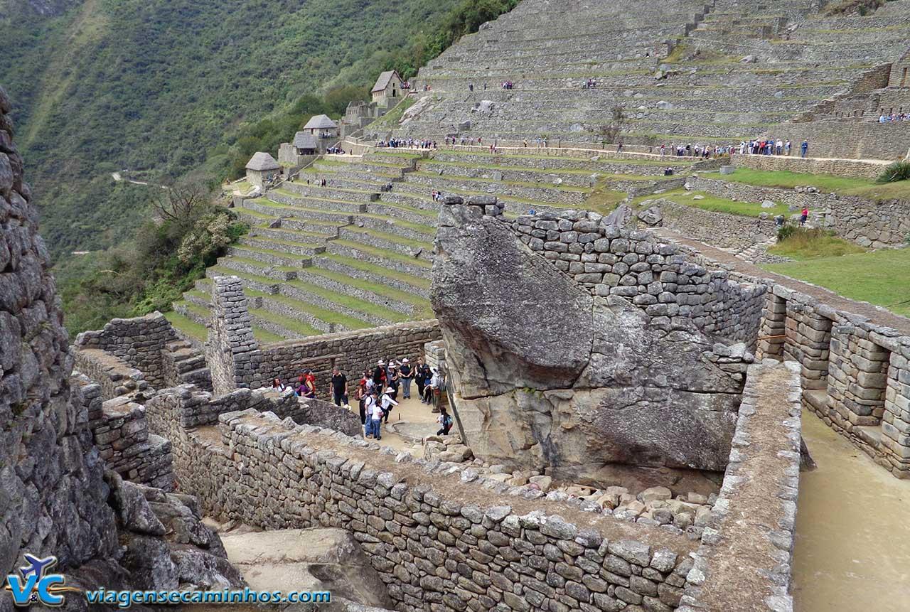 Construções de pedra em Machu Pichu - Peru