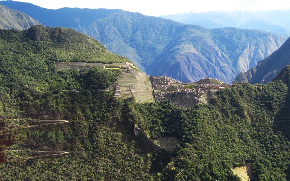 Machu Pichu vista da montanha Putucusi