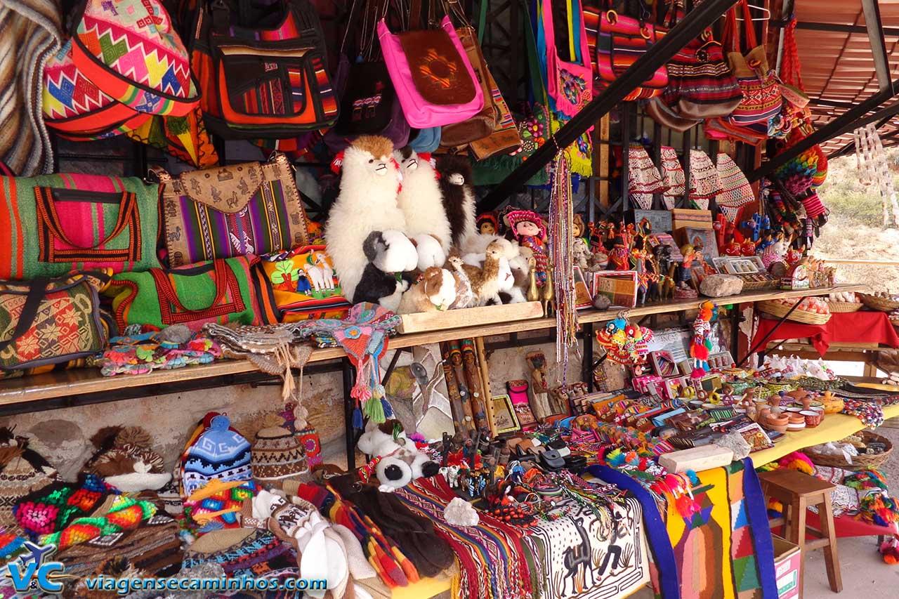 Mercado de artesanato de Águas Calientes