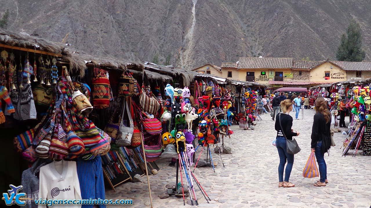 Mercado de artesanato de Ollantaytambo