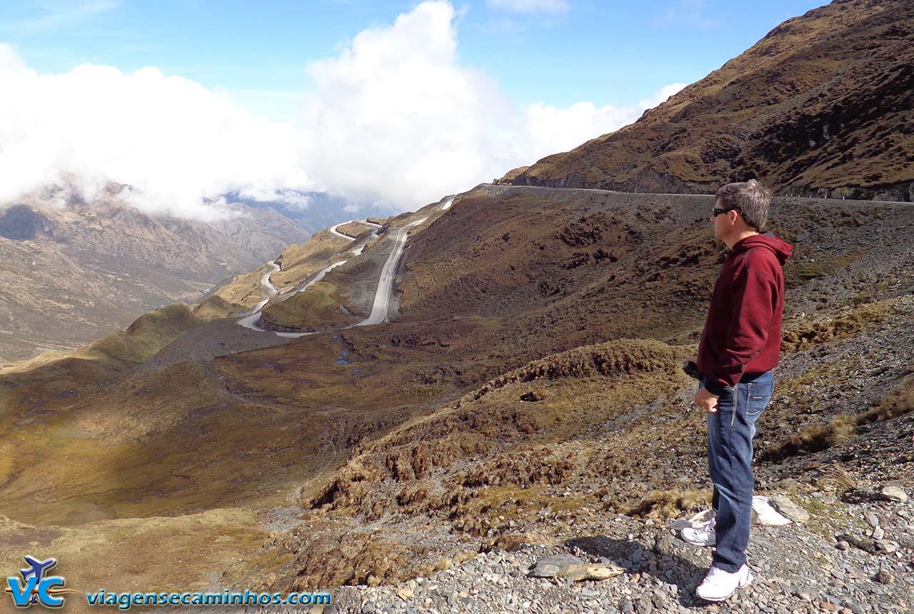 Parte mais alta da estrada de Abra Malaga - Peru