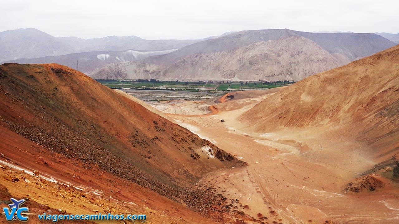 Oásis no deserto entre Moquegua e Arequipa