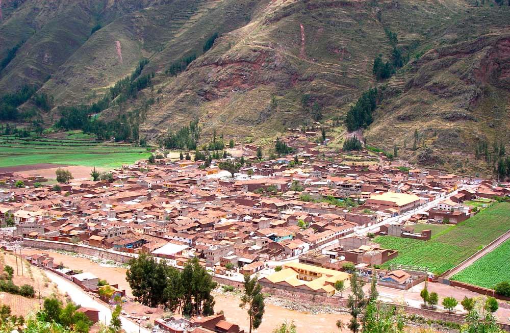 Vista da cidade de Pisac - Peru