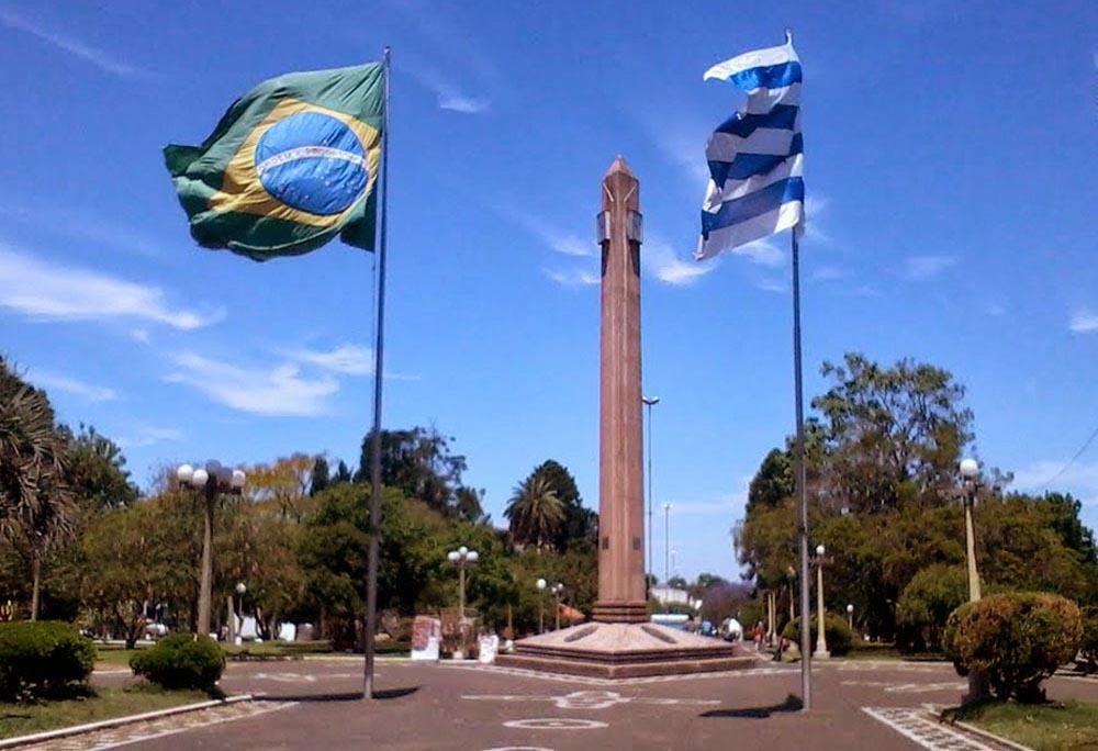 Praça internacional de Santana do Livramento e Rivera