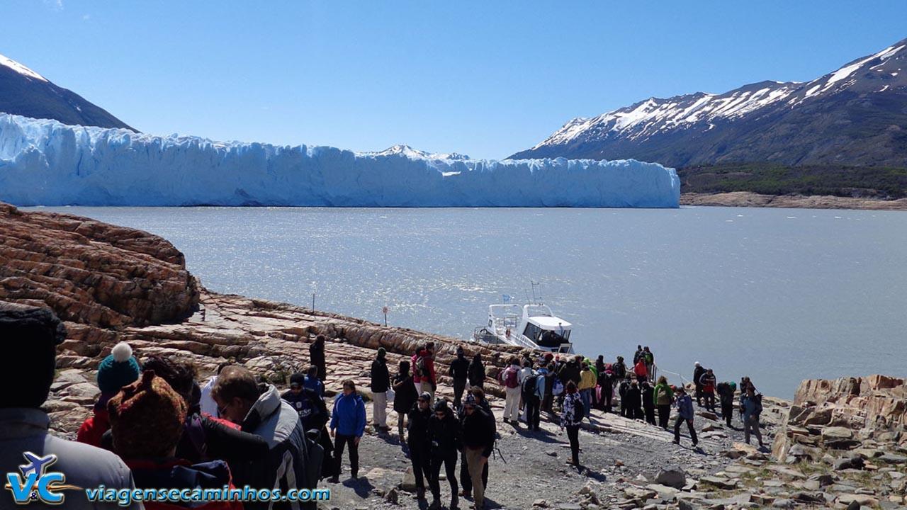 Desembarque para o trekking no gelo