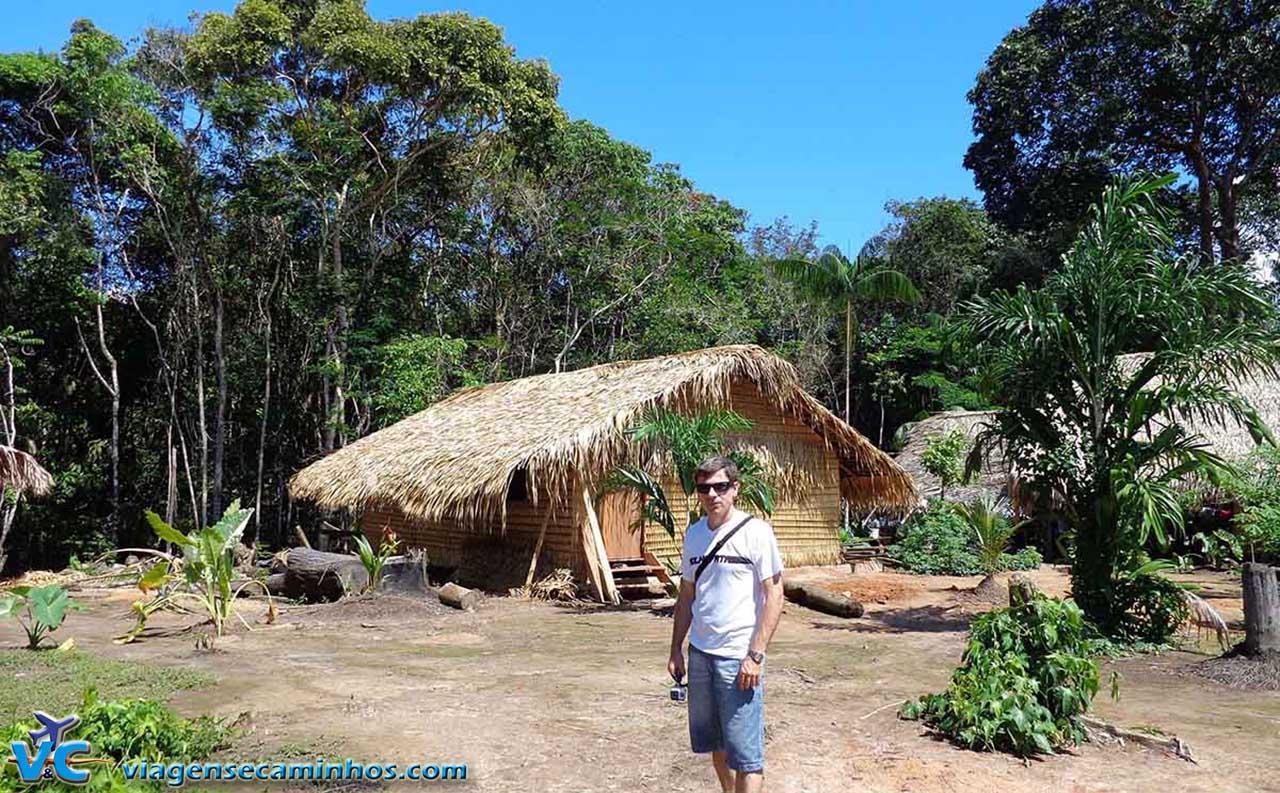 Aldeia dos índios da Amazônia
