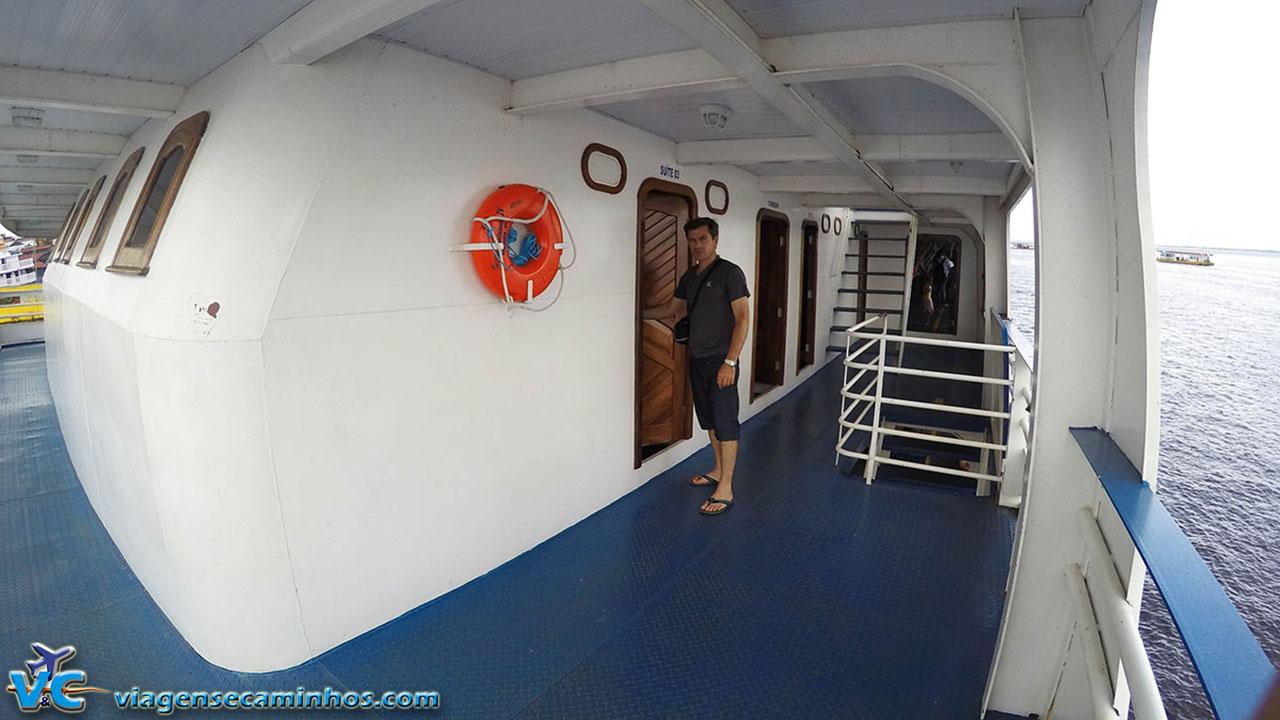 Nossa suíte no barco São Bartolomeu