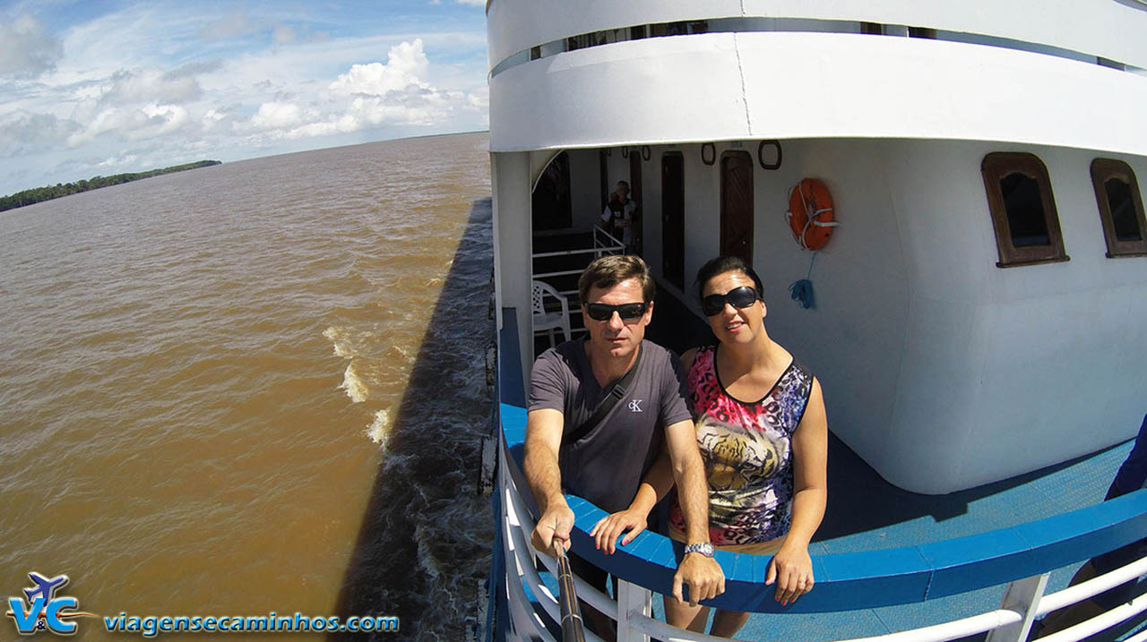 Viagem de barco pelo rio Amazonas - De Manaus a Santarém