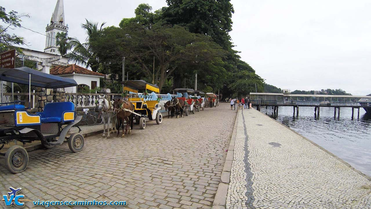 Charretes de passeio na Ilha de Paquetá