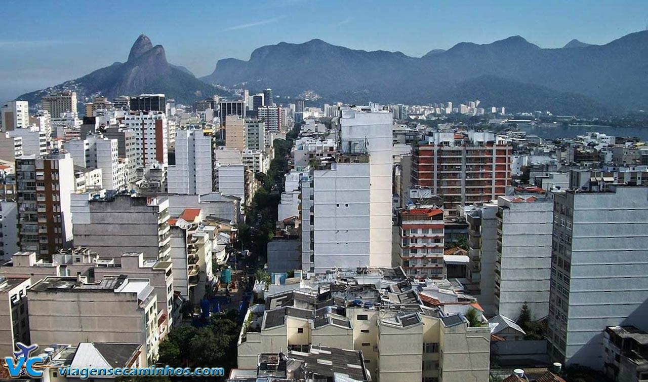Vista do Mirante da Paz, Leblon e Morro Dois Irmãos