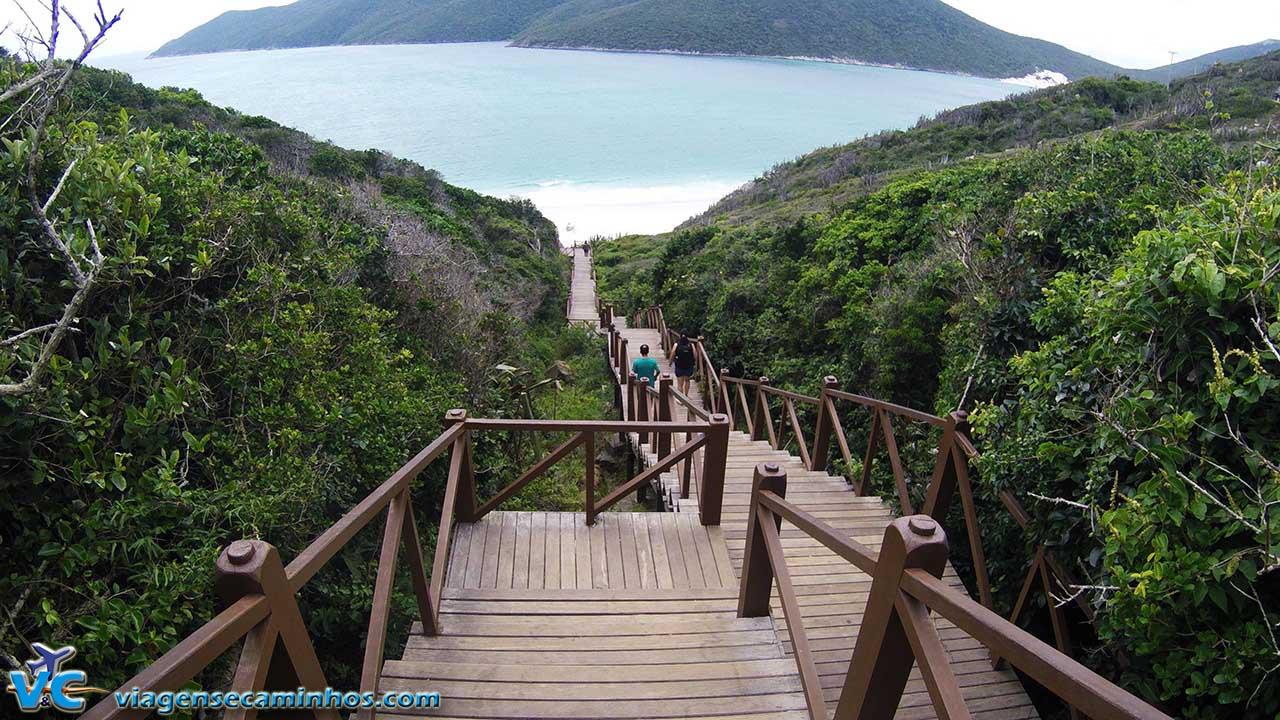 Escadaria da Praia do Pontal do Atalaia - Arraial do Cabo