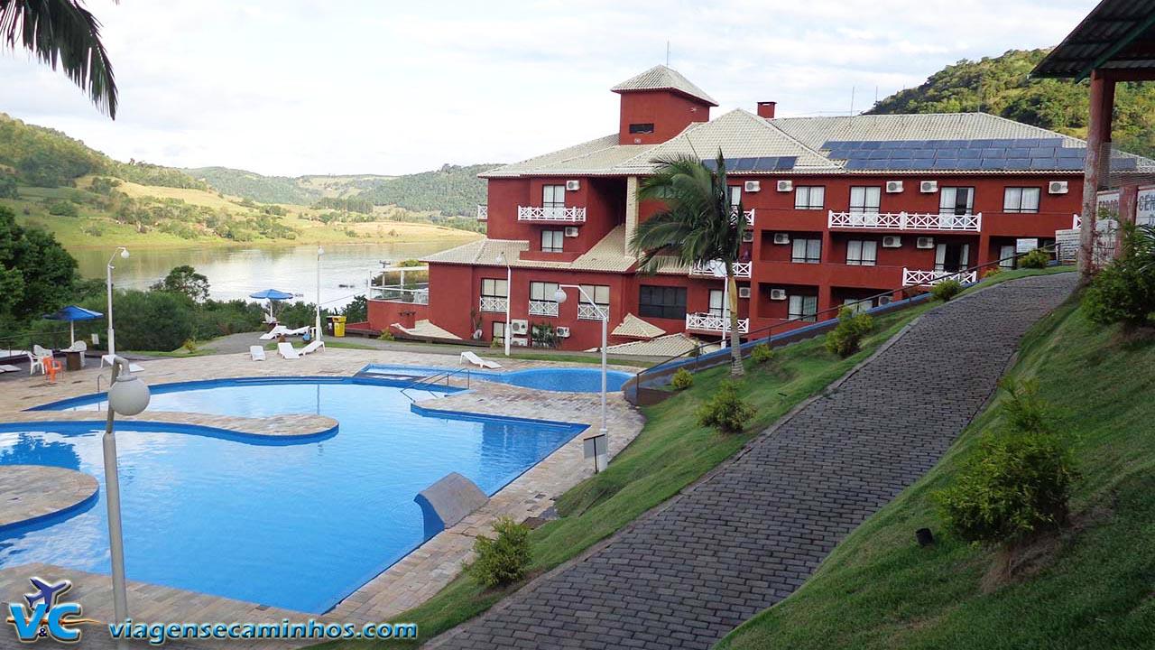 Termas de Marcelino Ramos e Hotel Balneário ao fundo