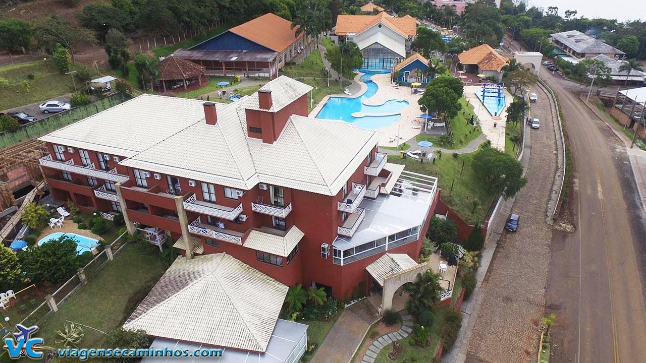 Vista aérea do Hotel Balneário por nosso drone