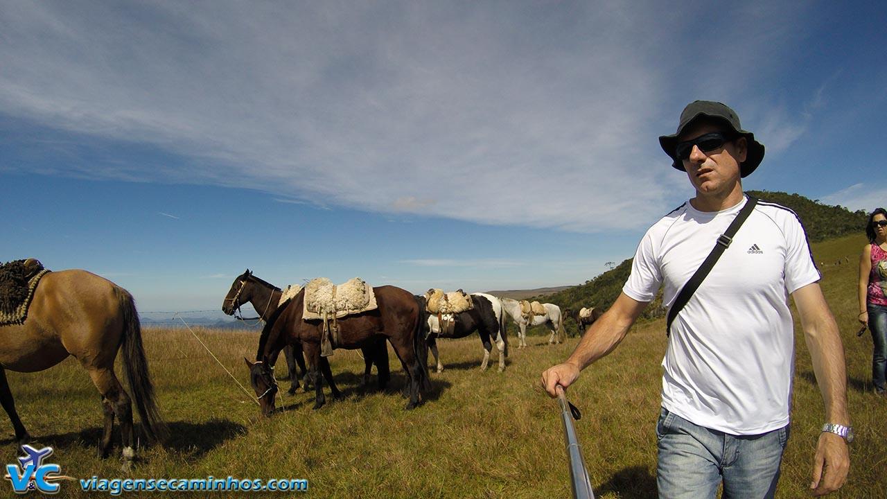 GoPro com bastão, foto em São José dos Ausentes - RS