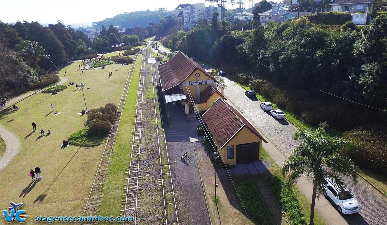 Estação Ferroviária de Garibaldi - Imagem drone