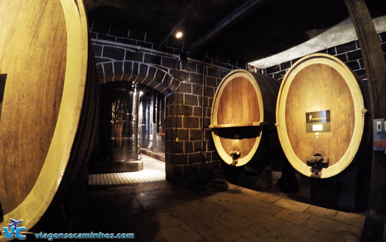 Antigas pipas da vinícola Peterlongo