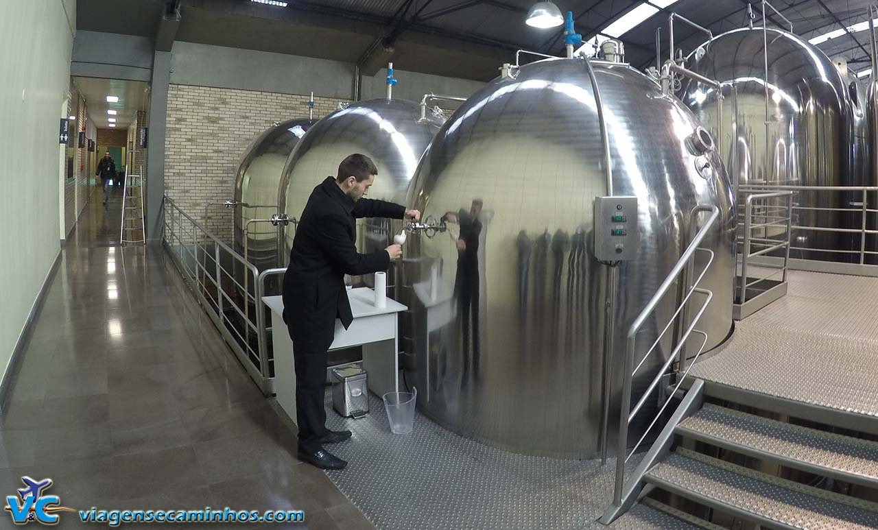 Tanques de fermentação da Chandon
