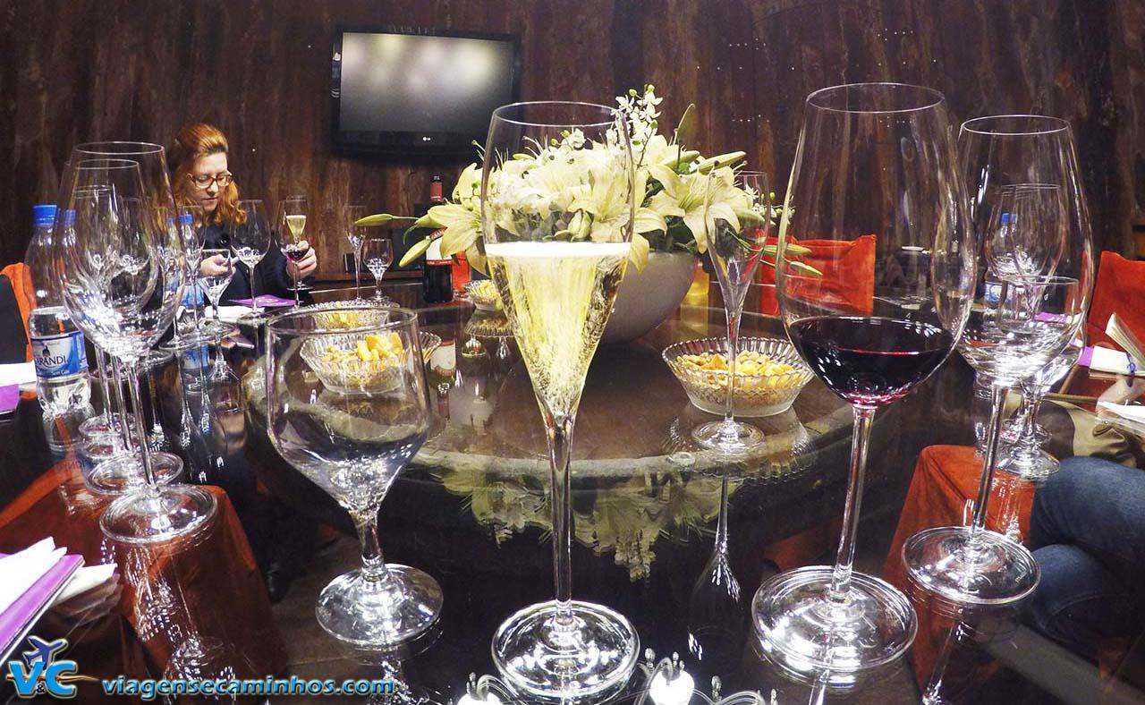 Degustação dos espumantes da Vinícola Garibaldi