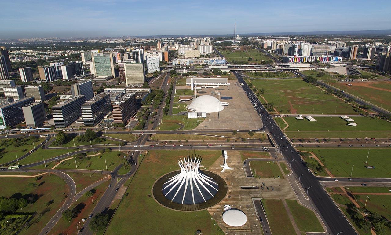 Vista aérea da região da Catedral de Brasília