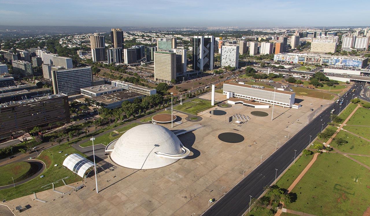 Vista aérea da região do Museu Nacional