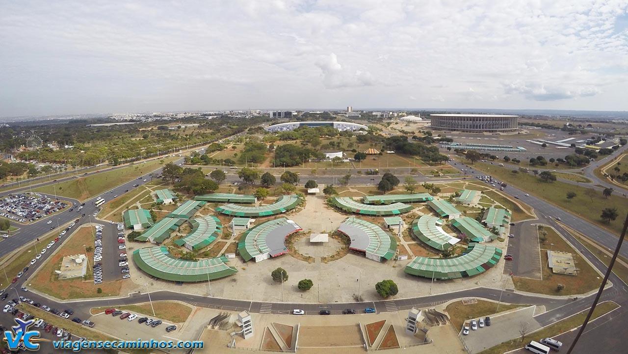 Vista do mirante da Torre de TV para o Estádio Nacional