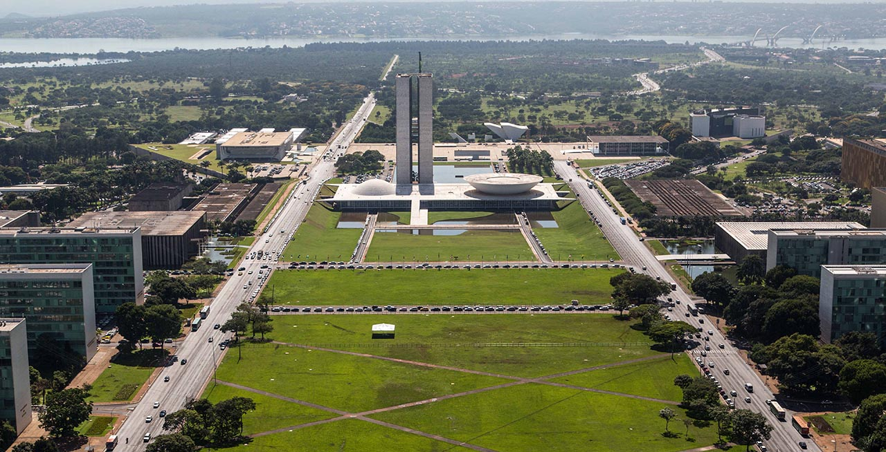 Vista aérea da região do Congresso Nacional