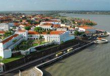 Vista aérea do centro histórico de São Luís