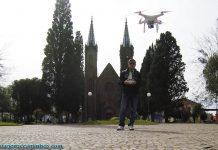 Decolando o drone em Vacaria - Viagens e Caminhos