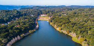 Vista aérea do Lago São Bernardo - São Francisco de Paula