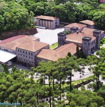 Vista aérea do Castelo Chateau Lacave - Caxias do Sul