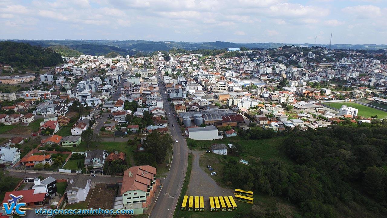 Flores da Cunha - vista aérea