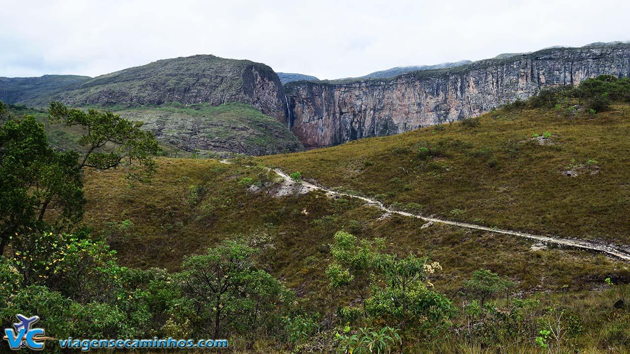 Início da trilha do poço da Cachoeira do Tabuleiro