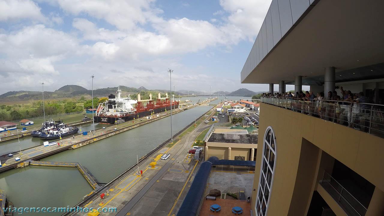 Mirante das eclusas de Miraflores - Canal do Panamá