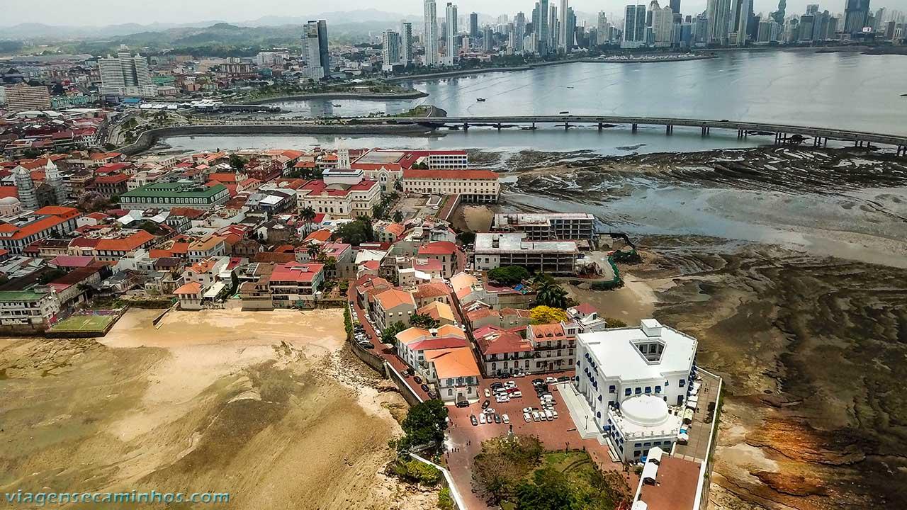 Vista aérea do Casco Viejo - Panamá
