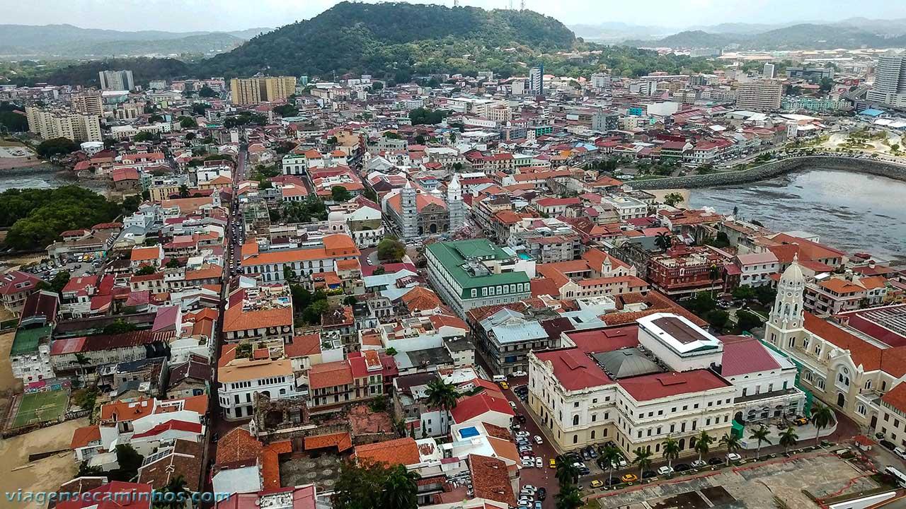 Vista aérea do centro histórico do Panamá