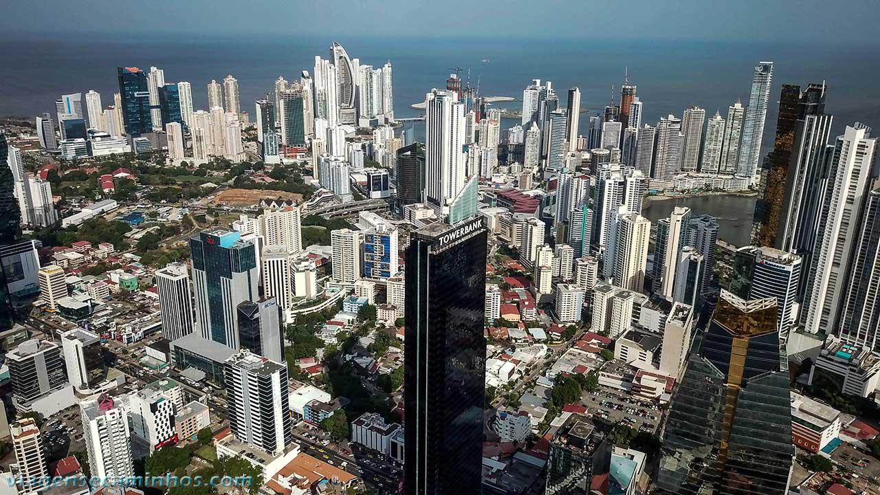 Prédios na cidade do Panamá
