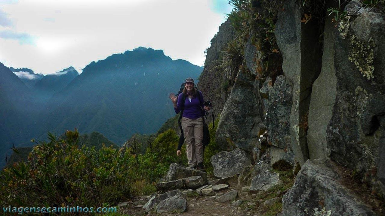 Viajante na Trilha Inca