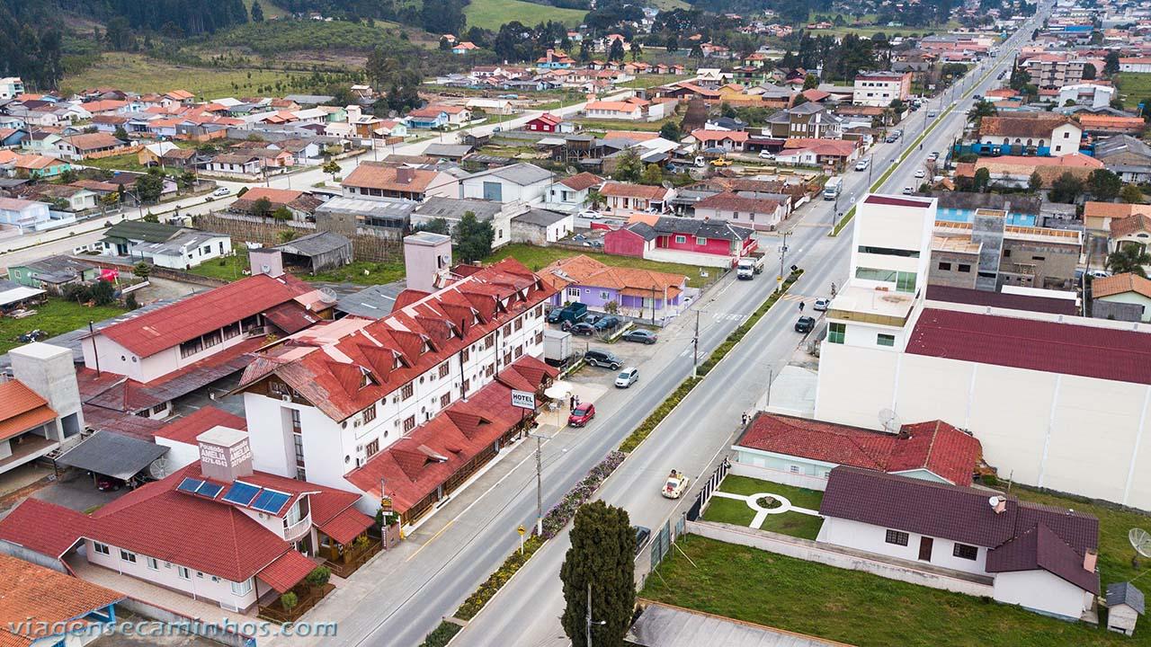Vista aérea do Urubici park hotel